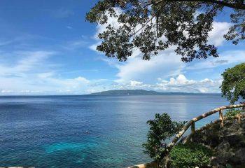 Vue du site de plongée depuis Almira Diving Resort, Napaling point, Panglao, Philippines