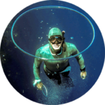 Profile picture of Patrick Swartenbroekx underwater with a bubble ring